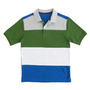 Little Boys' Color Block Polo Shirt (2T-7)