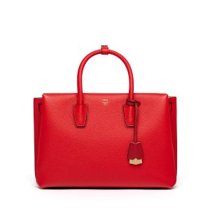 Large Milla Tote in Ruby Red by MCM