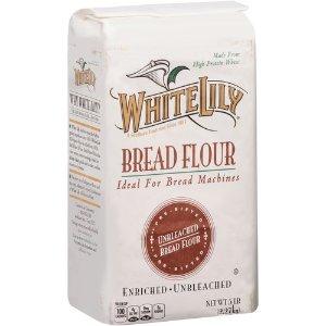 $2.64 White Lily Unbleached Bread Flour, 5 Pound