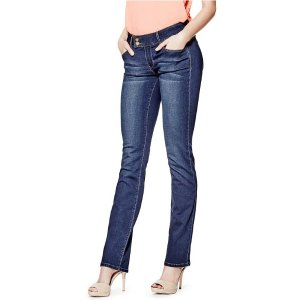 Kanasia Low-Rise Straight Jeans | GuessFactory.com
