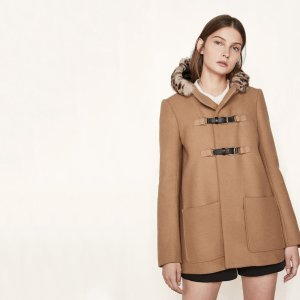 GRITTY Wool A-line coat - Coats & Jackets - Maje.com