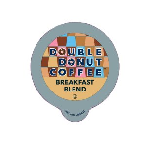 Prime Members Exclusive Double Donut Breakfast Blend Coffee, in Recyclable Single Serve Cups for Keurig K-Cup Brewers, 24 Count