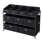Bintopia Deluxe Storage Rack with Fabric Bins