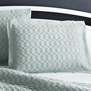 Elize Aqua Quilts and Pillow Shams | Crate and Barrel
