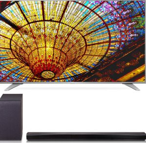 $799 LG 55UH6550 55-Inch 4K UHD Smart TV w/ SH5B 2.1ch 320W Sound Bar Bundle
