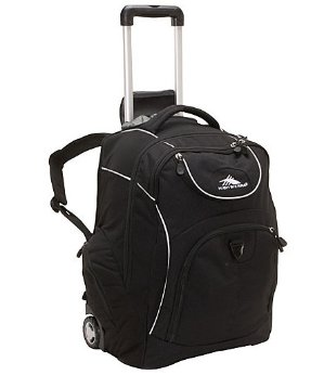 High Sierra Powerglide Rolling Laptop Backpack, Black or Brick Color