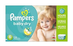 $25.18 Pampers Baby Dry Diapers Economy Pack Plus, Size 6, 128 Count