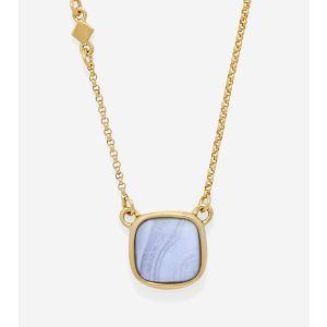 Tali L'Heure Bleue Basic Pendant Necklace in Gold-Blue