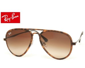 Dealmoon Exclusive! Ray Ban Aviator Light Ray Tortoise gunmetal brown glasses