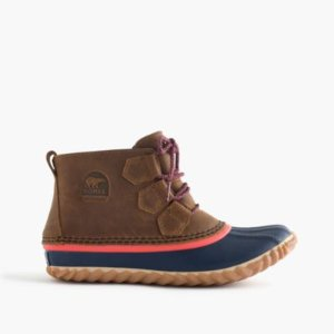 Women's Sorel For J.Crew Out N About Leather Boots In Elk Melon : Women's Boots   J.Crew