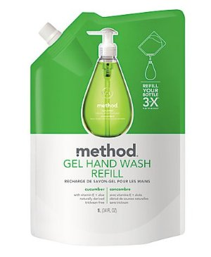 Method Gel Hand Wash Refill, Cucumber, 34 Oz, Case Of 6