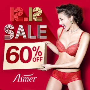 60% Off12/12 Sale @ Aimer Dealmoon Exclusive