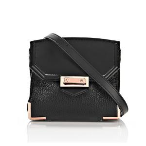 MARION IN PEBBLED BLACK WITH ROSE GOLD | Shoulder Bag | Alexander Wang Official Site