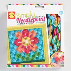 Alex Toys Simply Needlepoint Flowers Kit   World Market