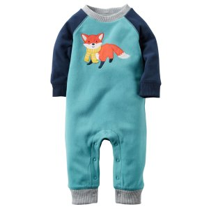 Baby Boy Fleece Jumpsuit | Carters.com