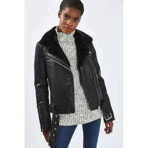 TALL Vardy Fur Lined Jacket - Sale & Offers- Topshop USA
