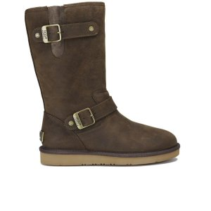 UGG Women's Sutter Waterproof Leather Buckle Boots - Toast - Free UK Delivery over £50
