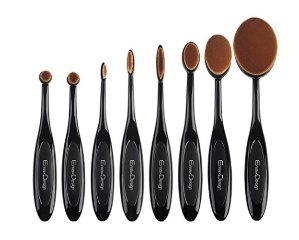 EmaxDesign Makeup Brushes 8 Pieces Oval Makeup Brush Set