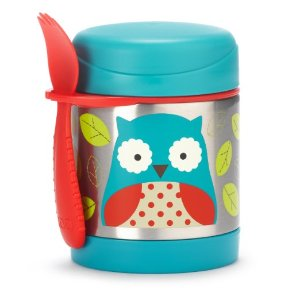 Skip Hop Zoo Insulated Food Jar, Monkey and Owl