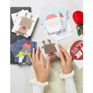 Paperchase | Paperchase Button Characters 15pk Holidays Cards