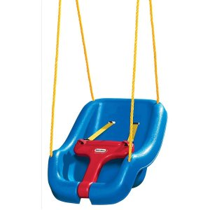 Little Tikes 2-in-1 Snug 'n Secure Swing, Blue or Pink