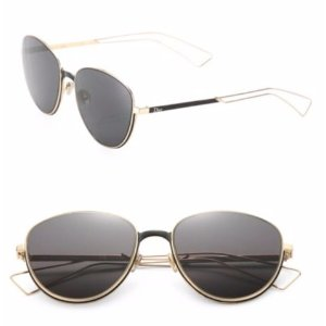 Dior 56mm Thin Metal Aviators