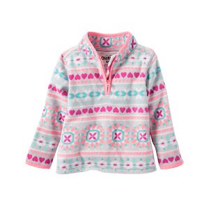 Kid Girl Quarter-Zip B'gosh Fleece Cozies | OshKosh.com