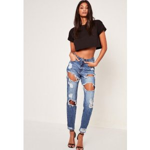 Blue Riot High Rise Ripped Jeans