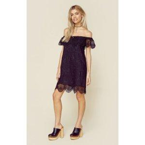 Nightcap Seashell Lace Off Shoulder Dress