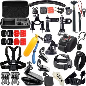 Camera Accessory Kit for GoPro Hero 4/ 3+/ 3/ 2/ 1 (50 items)