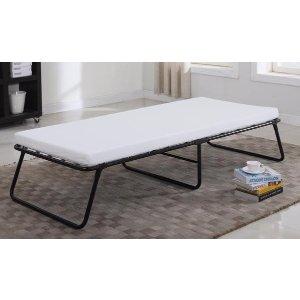 Twin Size Folding Cot Bed   Sofa Mania - FDB01-T - Sofamania