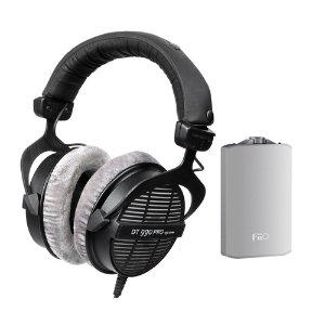 Beyerdynamic DT990 PRO 250ohm Headphones w/ FiiO A3 Amp