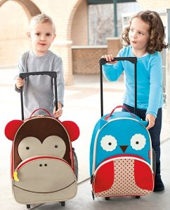 Skip Hop Unisex Zoo Kids Rolling Luggage