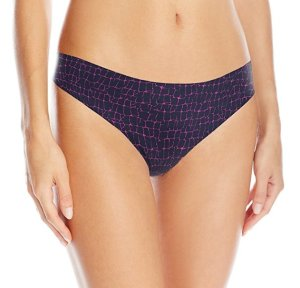 $5.4 Calvin Klein Women's Printed Invisibles Thong Panty