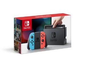$299.99Nintendo Switch with Neon Blue and Neon Red Joy-Con