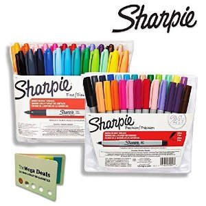 $8.49Sharpie Color Burst Permanent Markers, Fine Point, Assorted Colors, 24-Count
