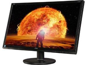 "$159.99 无税包邮AOC G2460FQ 黑/红24"" 144Hz 1ms响应 HDMI宽屏LED背光液晶显示器"