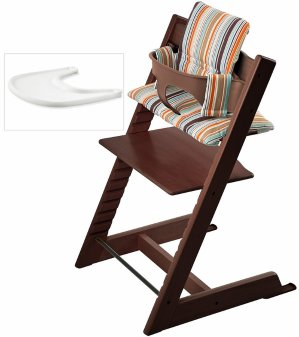 $299Stokke Tripp Trapp High Chair, Baby Set, Cushion & Tray Set