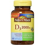 Nature Made Vitamin D 2000 I.U. with D3, Liquid Softgels, 220-Count