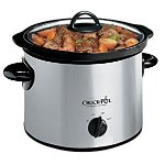 Crock-Pot 3-Quart Round Manual Slow Cooker, Stainless Steel (SCR300SS)