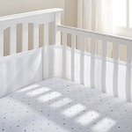 BreathableBaby Breathable Mesh Crib Liner, White