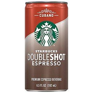 $2.00 + $2.00 credit. Starbucks Doubleshot Espresso, Cubano, 1 Count, 6.5 fl oz Can