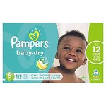 ampers Baby Dry Diapers Size 5, 112 Count