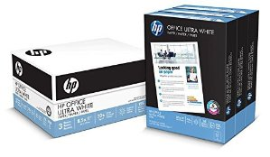 $11.19HP Paper, Office Ultra White Poly Wrap, 20lb, 8.5 x 11, Letter, 92 Bright, 1500 Sheets / 3 Ream Case, (112090), Made in the USA