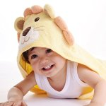 Luvable Friends Animal Face Hooded Towel Lion + Panda