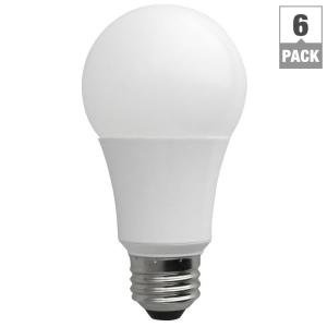$10.86TCP LA1050KND6 LED A19 - 60 Watt Equivalent Daylight (5000K) Light Bulb - 6 Pack