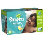 Pampers Baby Dry Diapers, Size 5, 112 Diapers