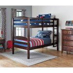 Better Homes and Gardens Leighton Twin Over Twin Wood Bunk Bed with 2 BONUS Mattresses