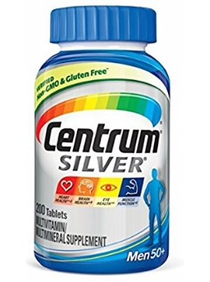 $10.93Centrum Silver Men Multivitamin / Multimineral Supplement Tablet, Vitamin D3 (200 Count)