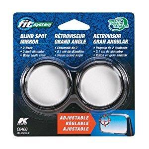 $2.79Fit System C0400 Driver/Passenger Side Stick-On Adjustable Blind Spot Mirrors - Pack of 2